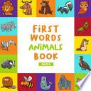 First Words Book Animals