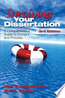 """Surviving Your Dissertation: A Comprehensive Guide to Content and Process"" by Kjell Erik Rudestam, Rae R. Newton"
