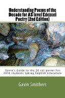 Understanding Poems of the Decade for As Level Edexcel Poetry