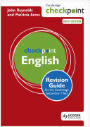 Books - Checkpoint English Revision Guide For The Cambridge Secondary 1 Test | ISBN 9781444180725