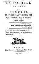 La Bastille dévoilée: livr. Registre des prisonniers, 5. mai 1782-14. juillet 1789