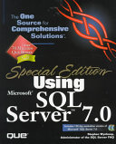 Cover of Special Edition Using Microsoft SQL Server 7.0