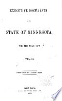 Executive Documents of the State of Minnesota for the Year     Book PDF