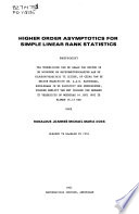 Higher Order Asymptotics for Simple Linear Rank Statistics