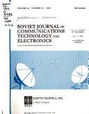 Soviet Journal Of Communications Technology Electronics