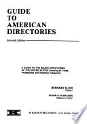 Guide to American Directories