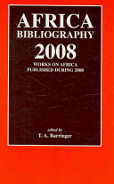 Africa Bibliography 2008