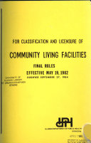 Minimum Standards  Rules and Regulations for Licensure of Community Living Facilities