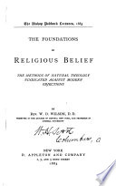 The Foundations of Religious Belief