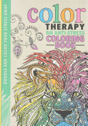 Color Therapy An Anti Stress Coloring Book Front Cover Cindy Wilde