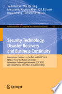 Security Technology  Disaster Recovery and Business Continuity