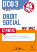 Pdf DCG 3 Droit social - Corrigés - 2021-2022 Telecharger