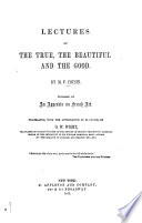 Lectures On The True The Beautiful And The Good Book PDF
