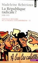 La République radicale ? (1899-1914) Pdf/ePub eBook