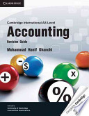 Cambridge International AS Level Accounting