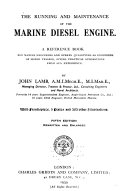 The Running and Maintenance of the Marine Diesel Engine