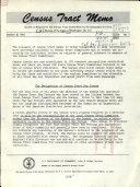 Census Tract Memo