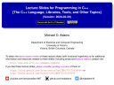 Lecture Slides for Programming in C++ (Version 2020-02-29)