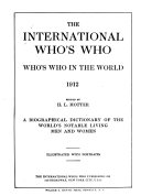 The International Who s who