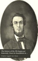 The History of the Phi Kappa Psi Fraternity  from Its Foundation in 1852 to Its Fiftieth Anniversary Book