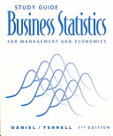 Study Guide Business Statistics Book