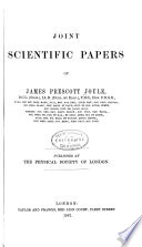 Joint Scientific Papers of Joule