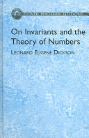 On Invariants and the Theory of Numbers - Página 62