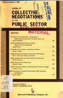 Journal of Collective Negotiations in the Public Sector