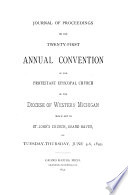 Journal Of The Proceedings Of The Annual Convention Of The Protestant Episcopal Church In The Diocese Of Western Michigan