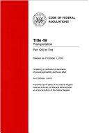 2018 CFR e-Book Title 5, Administrative Personnel, Parts 1200-End