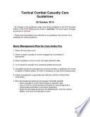 USMC Tactical Combat Casualty Care (TCCC / TC3) Guidelines