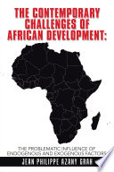 The Contemporary Challenges Of African Development