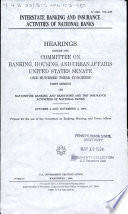 Interstate Banking and Insurance Activities of National Banks