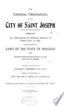 The General Ordinances of the City of Saint Joseph