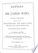 Battles Of The United States By Sea And Land Book