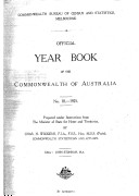 Official Year Book of the Commonwealth of Australia No  18   1925
