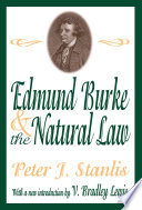 Edmund Burke and the Natural Law Book PDF