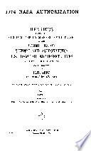 1974 NASA Authorization Book