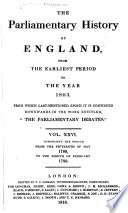 Download The Parliamentary History of England from the Earliest Period to the Year 1803 Pdf