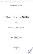 Proceedings of the     Annual Assembly of the Grand Council of Royal and Select Masters of the State of Tennessee