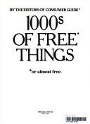 1000s of Free Thing Book