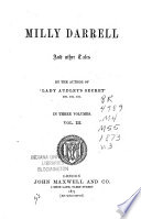 Milly Darrell, and other tales, by the author of 'Lady Audley's secret'. Pdf/ePub eBook