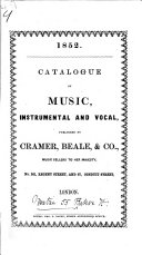 Catalogue of music  instrumental and vocal  etc   1852