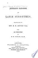 D  derlein s Hand book of Latin Synonyms