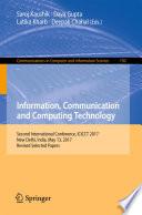 Information  Communication and Computing Technology
