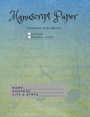 Standard Wire bound Manuscript Paper Book  Blue Green Cover  Book PDF