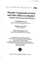 Phenolic Compounds In Food And Their Effects On Health Analysis Occurrence And Chemistry Book PDF