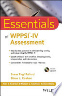 Essentials of WPPSI IV Assessment