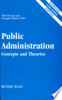 Public Administration  Concepts And Theories