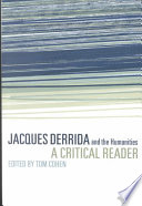 Jacques Derrida and the Humanities